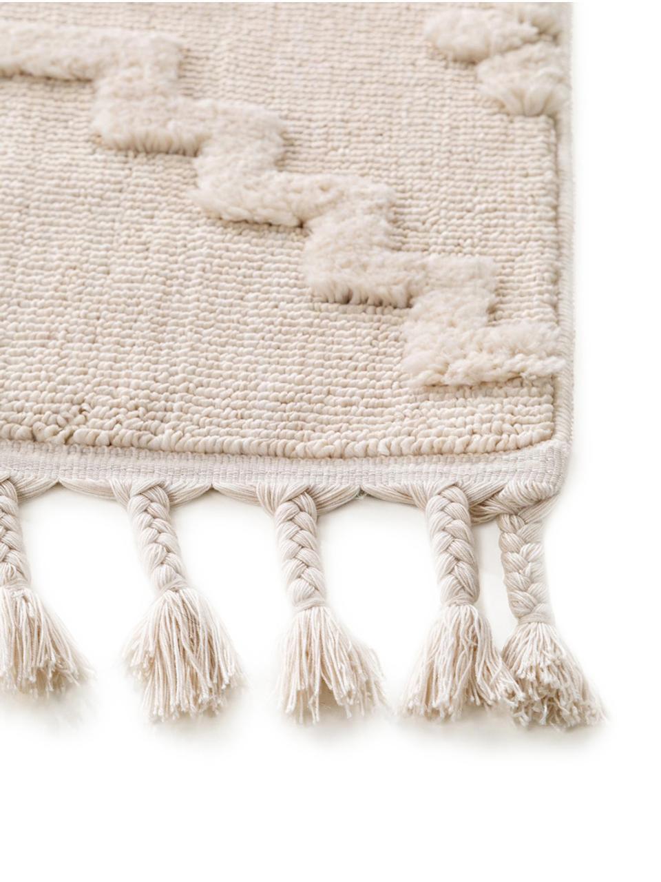 Dywan z wypukłym wzorem Oyo, Kremowy, S 160 x D 230 cm (Rozmiar M)