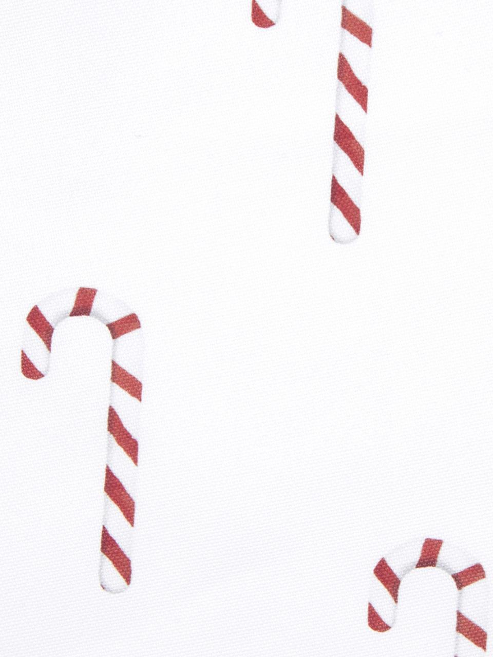 Funda de cojín Candy Cane, Algodón, Rojo, blanco, An 40 x L 40 cm