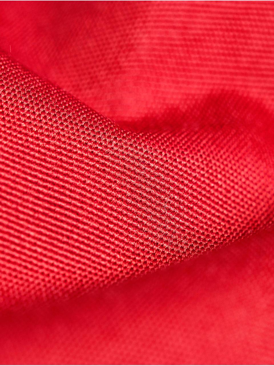 Poltrona sacco grande Meadow, Rivestimento: poliestere, poliuretano, , Rosso, Larg. 130 x Alt. 160 cm