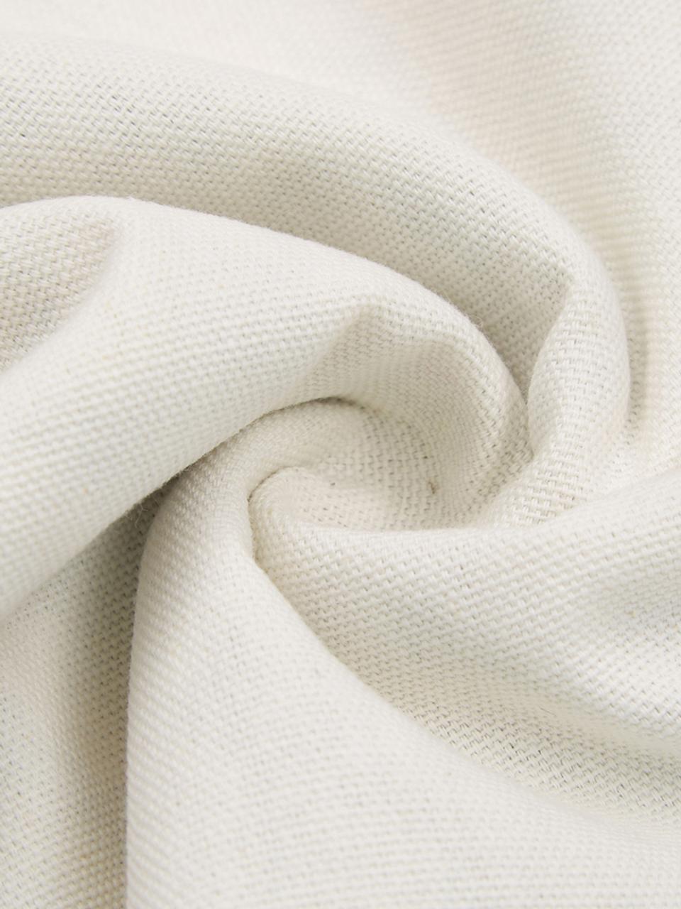 Federa arredo con motivo invernale Shetland, 100% cotone, Verde, bianco crema, Larg. 30 x Lung. 50 cm