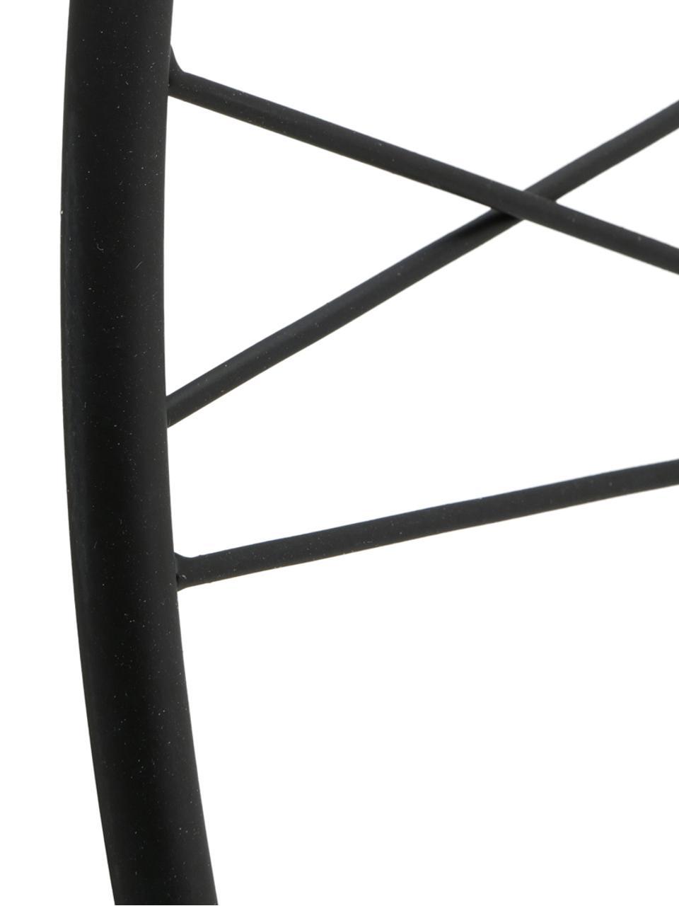 Wanduhr Oslo, Metall, beschichtet, Schwarz, Ø 57 cm