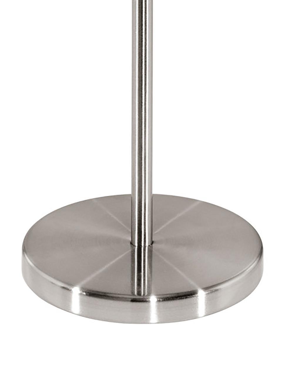 Tischlampe Jamie mit Gold, Lampenfuß: Metall, vernickelt, Grau-Beige,Silberfarben, Ø 23 x H 42 cm