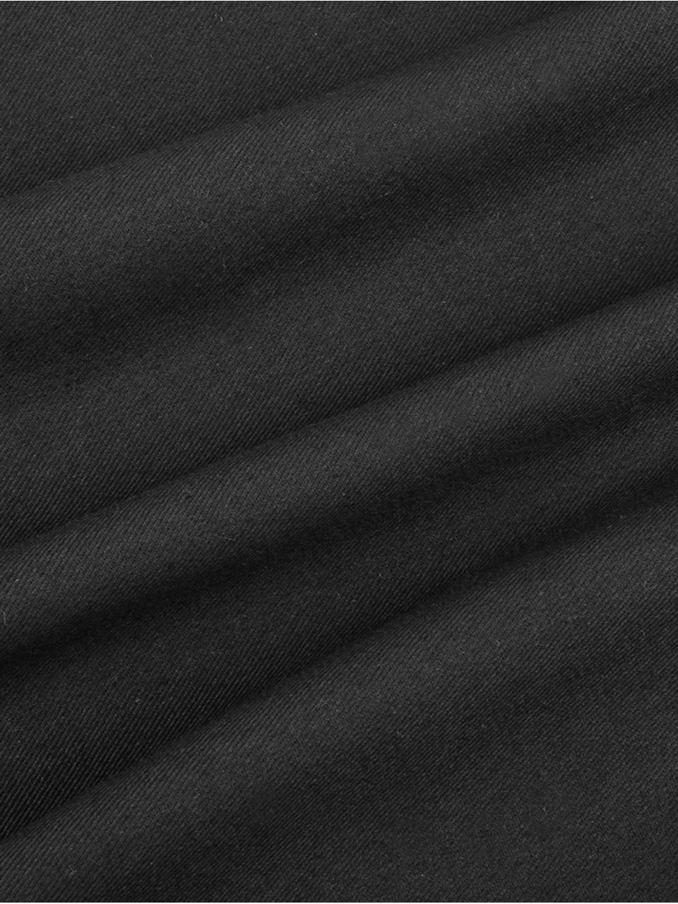 Baumwoll-Kissenhülle Mads in Schwarz, 100% Baumwolle, Schwarz, 30 x 50 cm