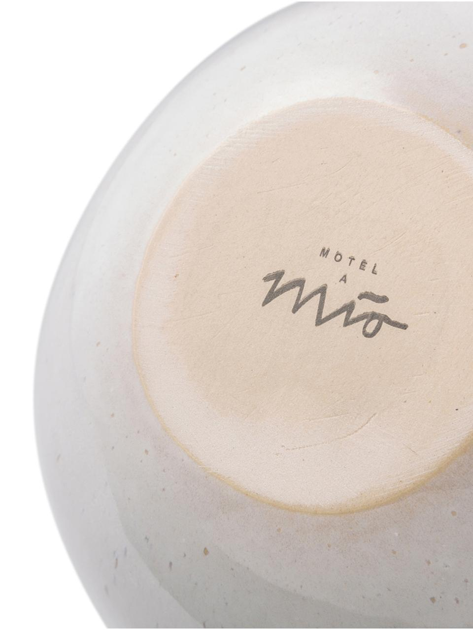 Ciotola dipinta a mano Areia 2 pz, Terracotta, Menta, bianco latteo, beige, Ø 15 x Alt. 8 cm