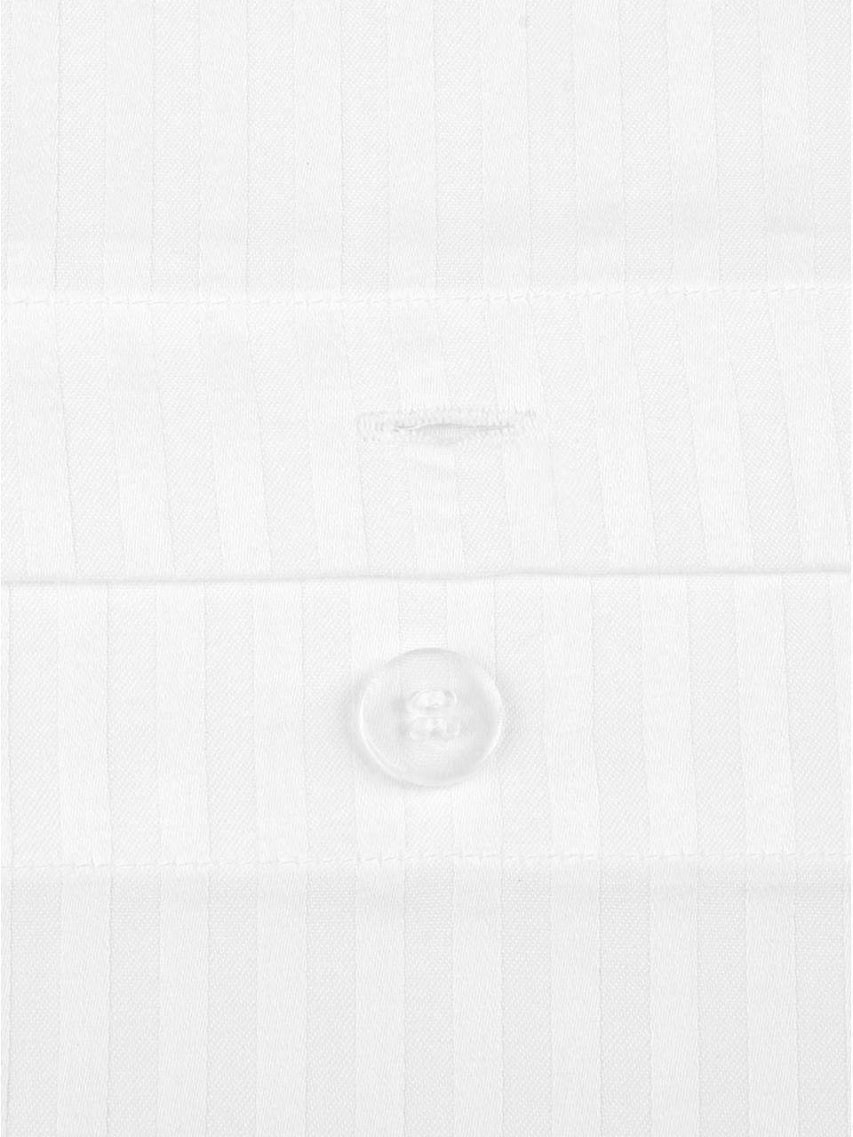 Poszewka na poduszkę z satyny Stella, 2 szt., Biały, 40 cm x 80 cm