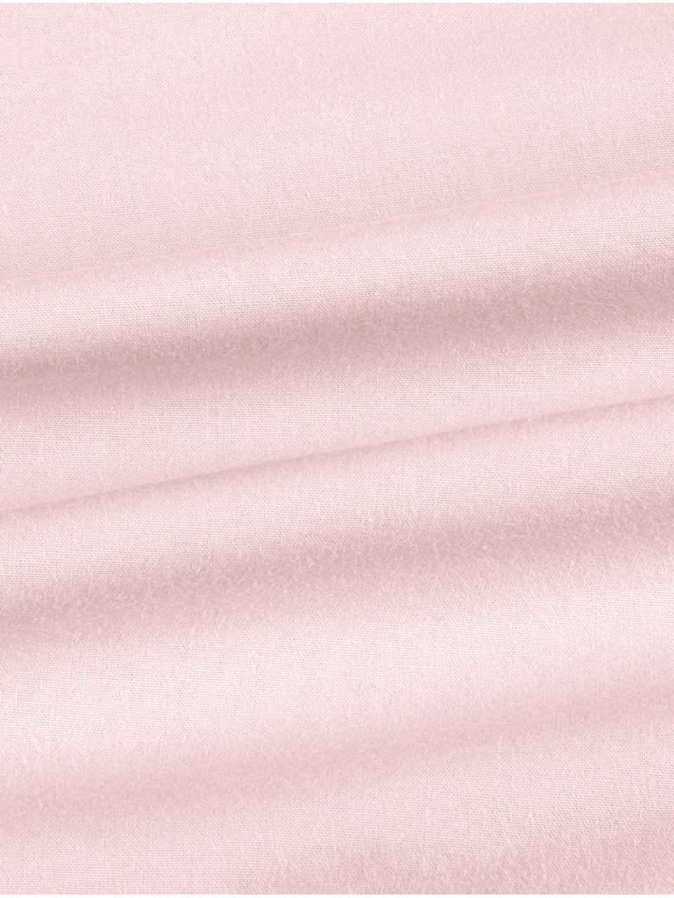 Gewaschene Baumwoll-Kissenbezüge Florence mit Rüschen, 2 Stück, Webart: Perkal Fadendichte 180 TC, Rosa, 40 x 80 cm
