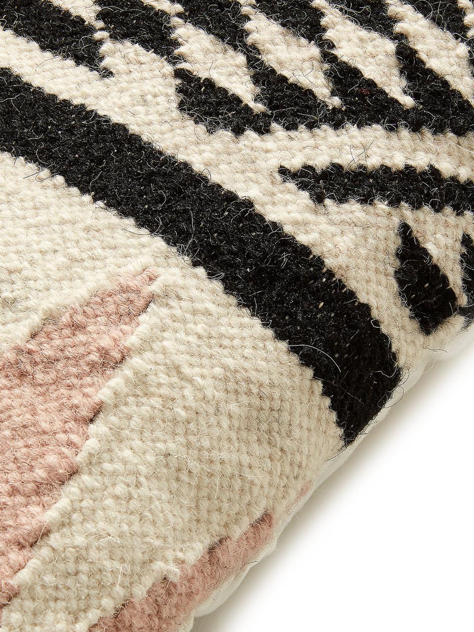 Kussenhoes Greta, Katoen, Beige, zwart, roze, 45 x 45 cm