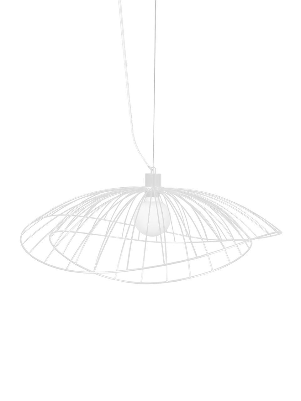 Lampada a sospensione di design Ray, Metallo, Bianco, Ø 45 x Alt. 25 cm