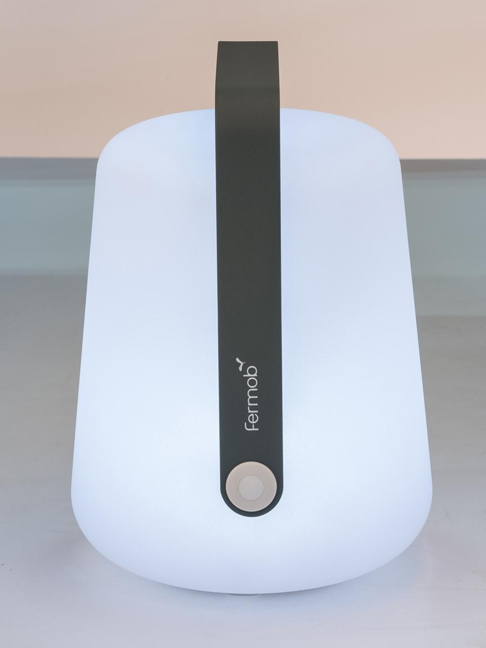 Zewnętrzna mobilna lampa LED Balad, Szary burzowy, Ø 19 x W 25 cm