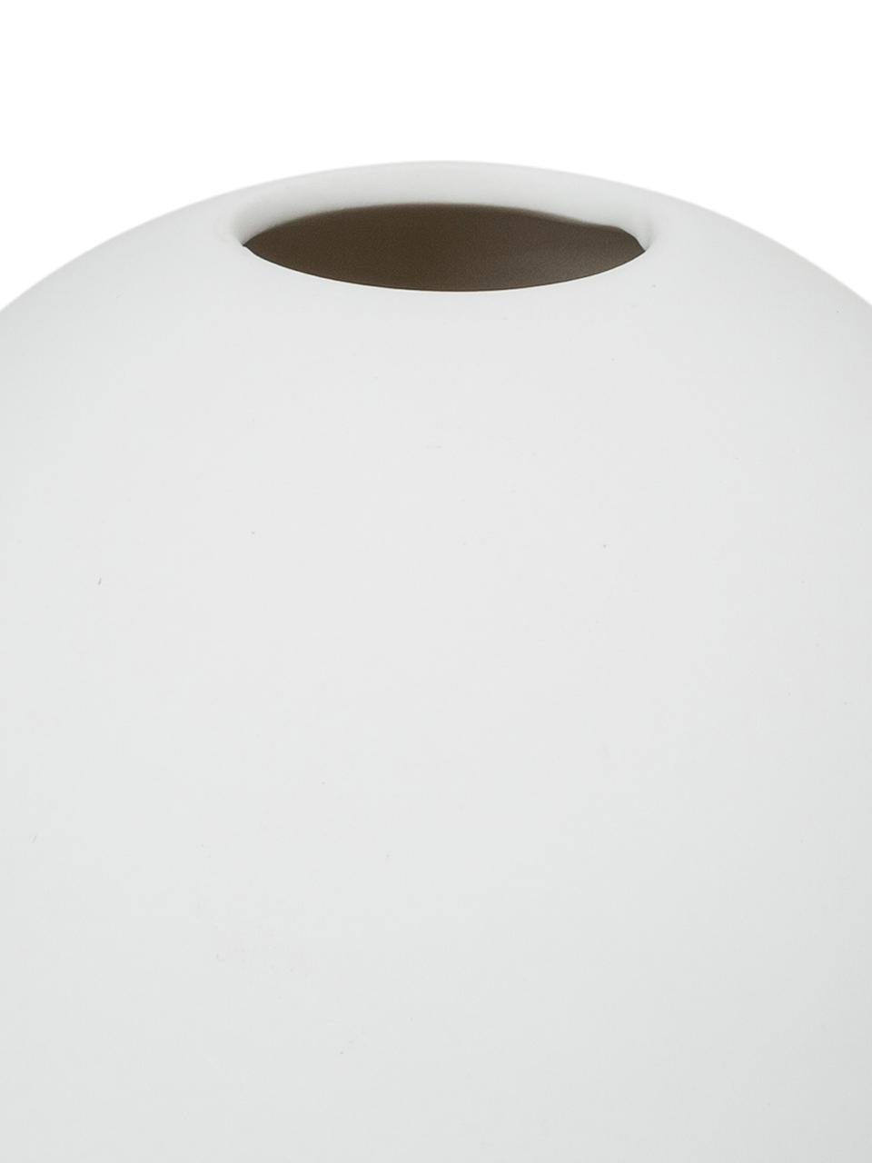 Handgefertigte Kugel-Vase Ball, Keramik, Weiß, Ø 10 x H 10 cm