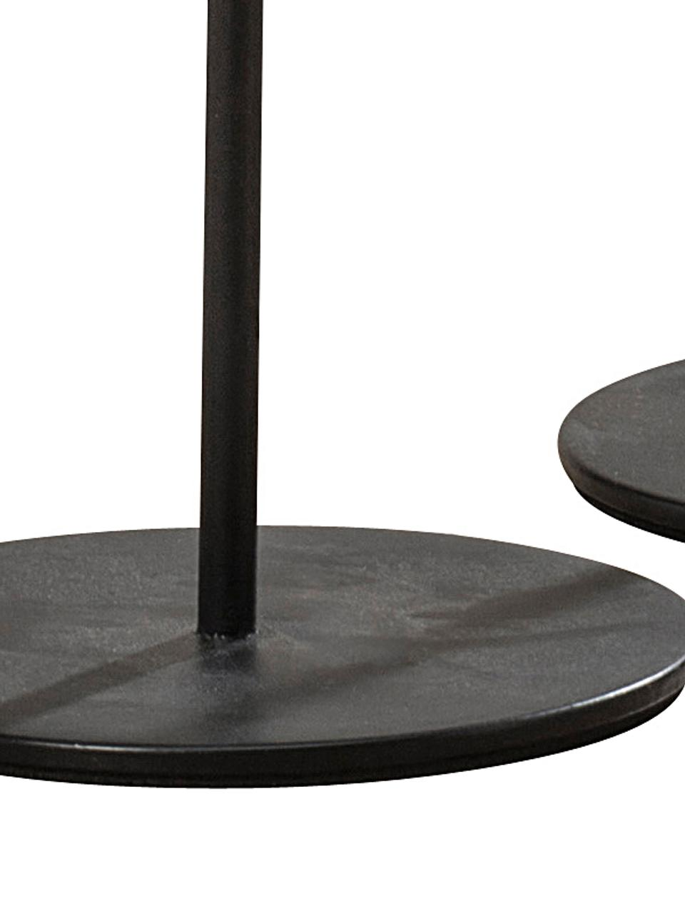 Kerzenhalter-Set Malte, 3-tlg., Metall, beschichtet, Schwarz, Sondergrößen