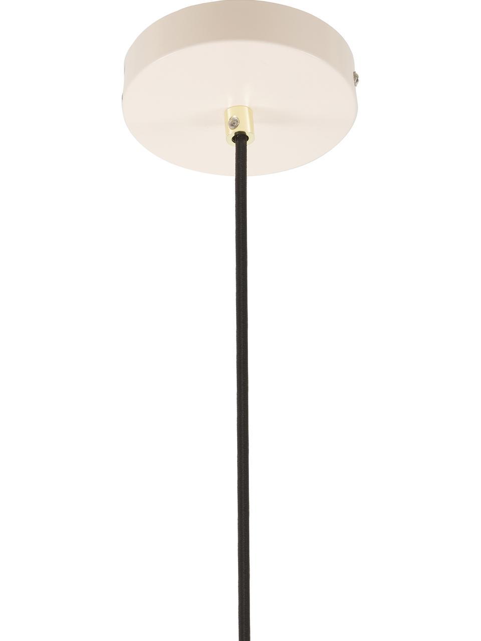 Pendelleuchte Wilma aus Metall, Lampenschirm: Metall, pulverbeschichtet, Baldachin: Metall, pulverbeschichtet, Dekor: Metall, galvanisiert, Rosa, Ø 33 x H 25 cm