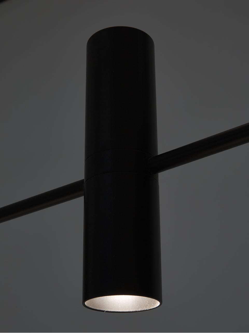 Velké moderní závěsné svítidlo Cassandra, Matná černá