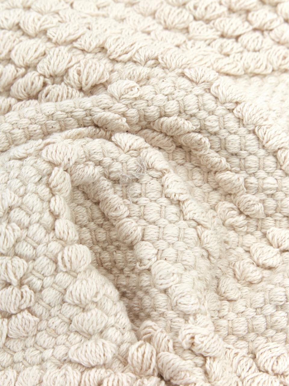 Kissenhülle Paulina mit dekorativer Verzierung, 100% Baumwolle, Beige, 45 x 45 cm