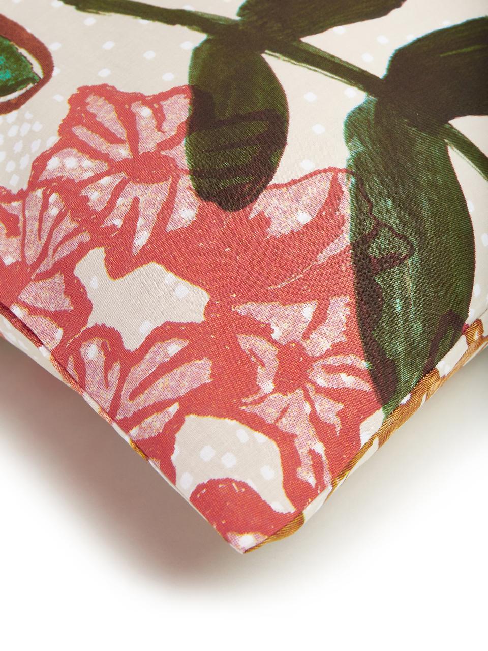 Bavlněné povlečení s barevným květinovým vzorem Fiori, Béžová, více barev