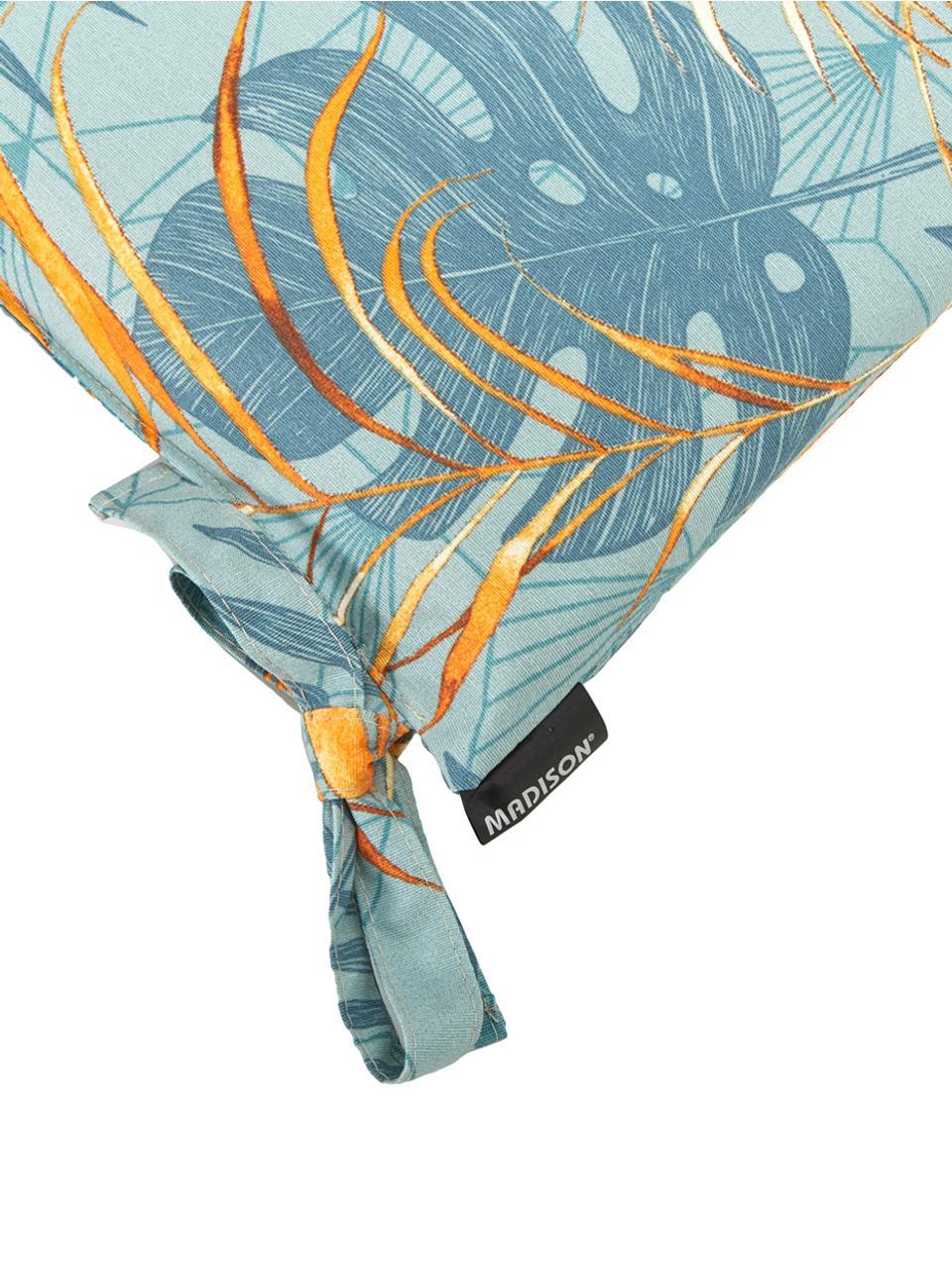 Poduszka na siedzisko Dotan, Tapicerka: 50% bawełna, 45% polieste, Jasny niebieski, niebieski, pomarańczowy, S 45 x D 45 cm