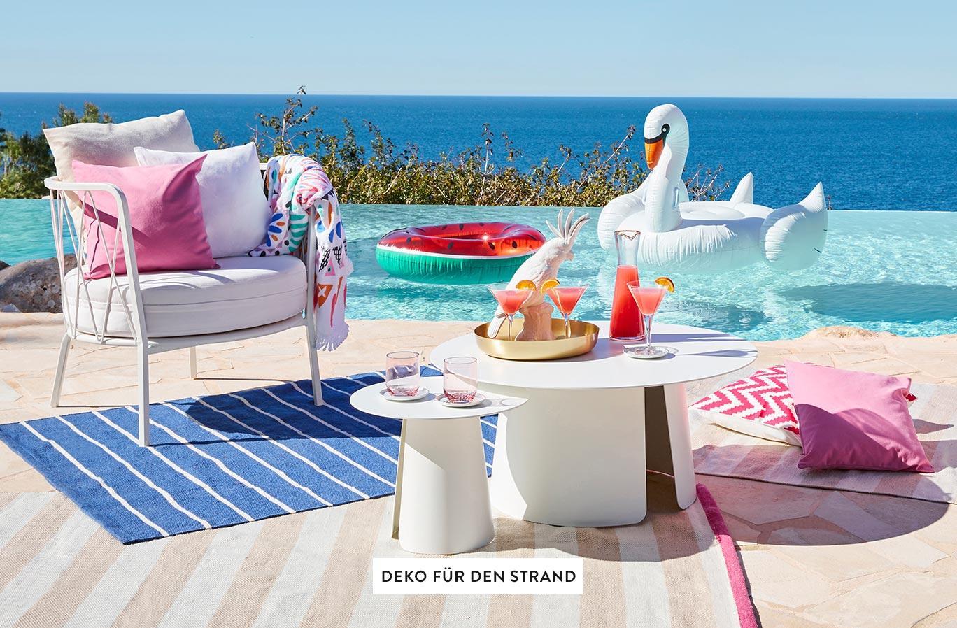 Deko-Strand-Pool