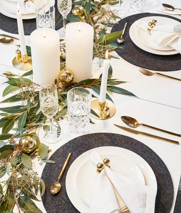 decorazioni tavola natale