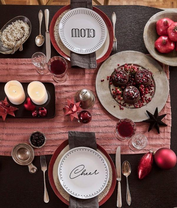 servizio piatti natalizi