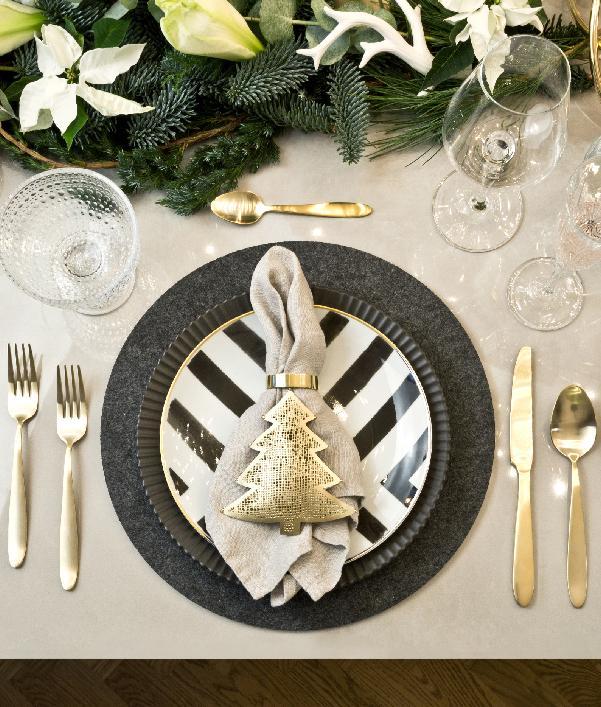 Decoración de la mesa de navidad