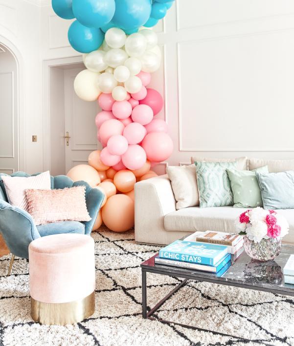 Muebles y decoración en tonos pastel