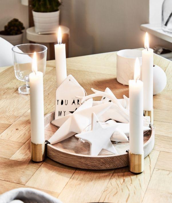 Set de velas y portavelas