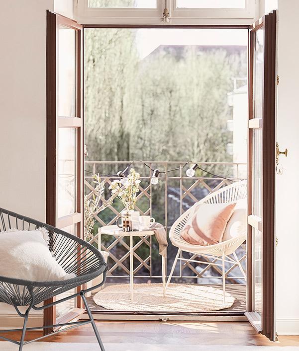Kleinen Balkon einrichten