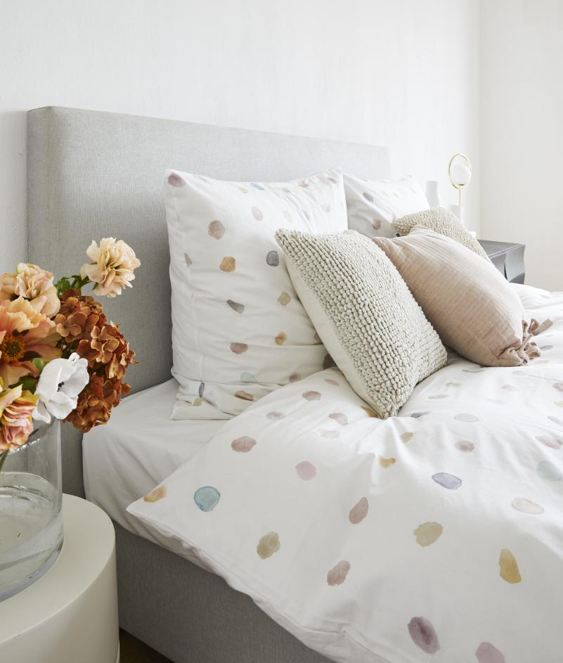 Bettwäsche mit grafischem Muster