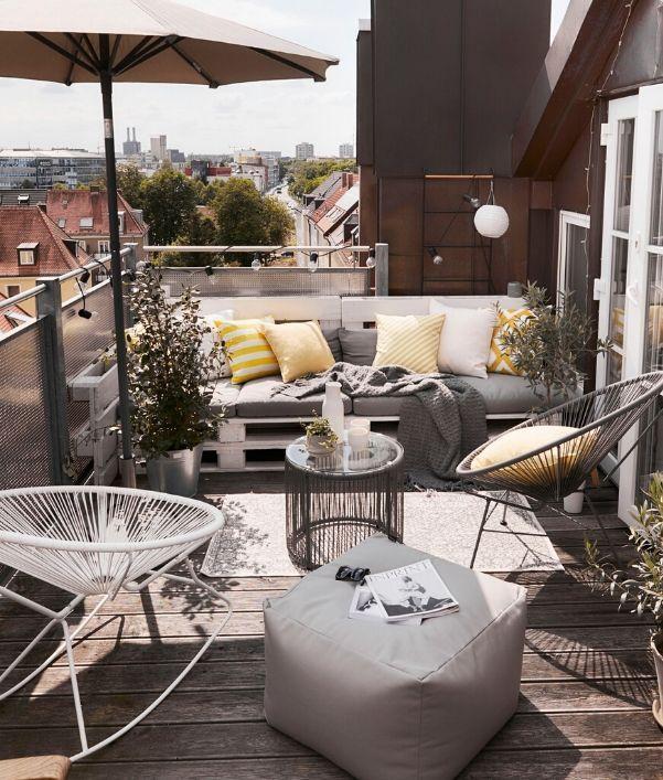 Einrichtungsideen kleinen Balkon einrichten