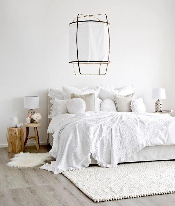 Ideen für ein Schlafzimmer in Weiß