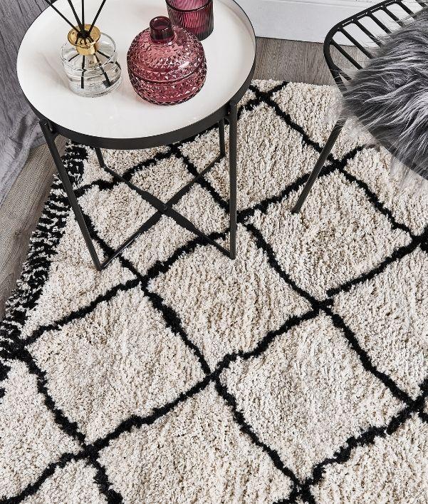 Teppiche in Schwarz-Weiß