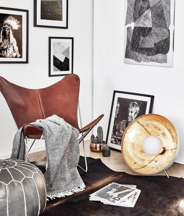 Wanddeko im Vintage Stil