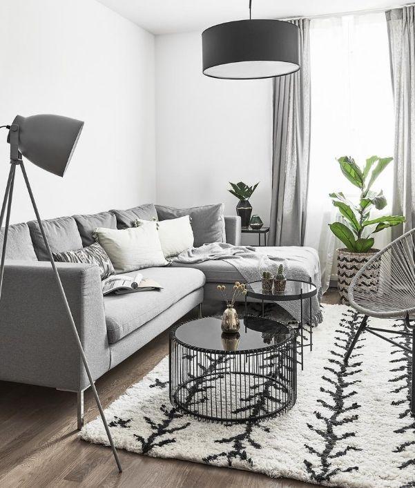 Wohnzimmer Ideen in Grau