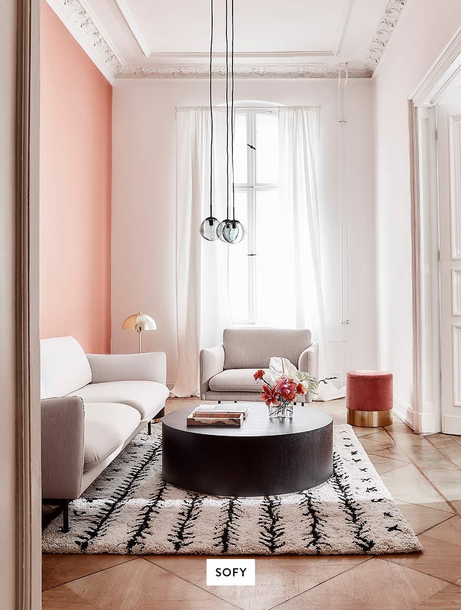 Wohnzimmer-Sofas-Couchtisch