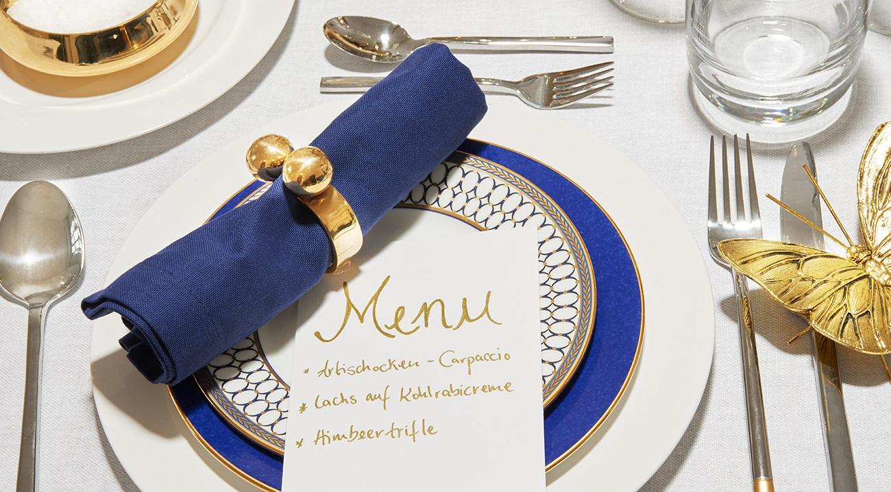 servietten-ringe-metall-stoff-blau-gold