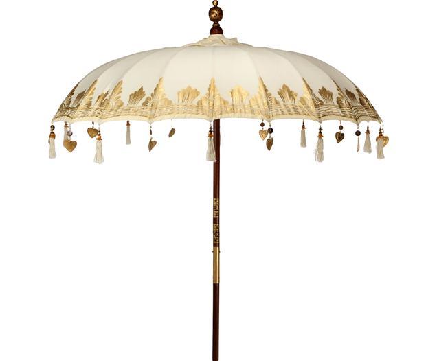 """*NEU*: Sonnenschirm """"Oriental Lounge"""" aus Baumwolle, beige/gold"""