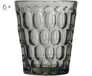 Bicchiere acqua con rilievo Optic 6 pz