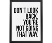 Gerahmter Digitaldruck Don't Look Back