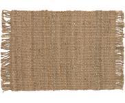 Alfombra artesanal de yute con flecos Cadiz