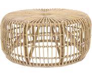Okrągły stolik kawowy z rattanu Kim