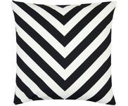 Housse de coussin noir et blanc imprimé zigzag Lena