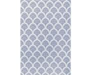 Gemusterter In- & Outdoor-Teppich Stan in Blau/Weiß