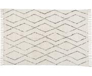 Handgewebter Teppich Berber mit Fransen