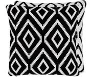 Strick-Wendekissenhülle Chuck mit grafischem Muster in Schwarz/Weiß
