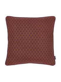 Kissen Feather mit Artdeco-Muster, mit Inlett, Bezug: 100% Baumwolle, Burgund, Orange, 45 x 45 cm