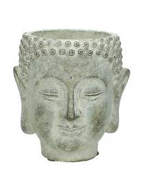 Übertopf Head aus Beton, Beton, Grau, 15 x 17 cm