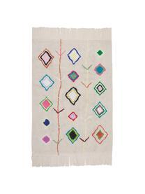 Teppich Kaarol mit buntem Muster, handgefertigt, Flor: 97% recycelte Baumwolle, , Mehrfarbig, B 140 x L 200 cm (Größe S)