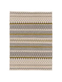 Wollteppich Nova im Ethno Style, Grau, Senfgelb, Beige, B 200 x L 300 cm (Größe L)