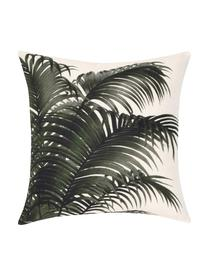 Housse de coussin 40x40 palmier Palmeira, Écru, vert