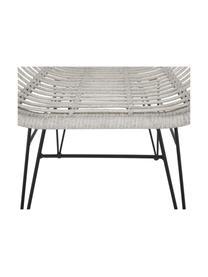 Krzesło z podłokietnikami Costa, 2 szt., Stelaż: metal malowany proszkowo, Jasny szary, S 59 x G 61 cm